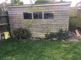 Free Shed 4m x 3m x 2m **FREE TO DISMANTLE AND TAKE AWAY**