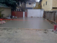 GARAGE PAD//CURB WALL. CALL Today For A FREE Quote(403) 829-1122