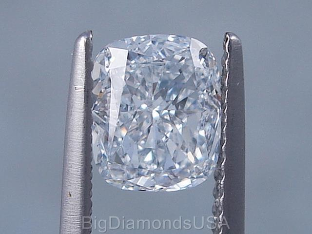 1.50 CARATS CUSHION CUT CERTIFIED LAB GROWN DIAMOND D VS2  $4,990