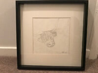 Framed pencil drawing of Highland Cow (Frame 50cms x 50cms)