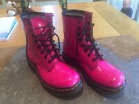Dr Martens Patent Pink Boots - Ladies Size 5