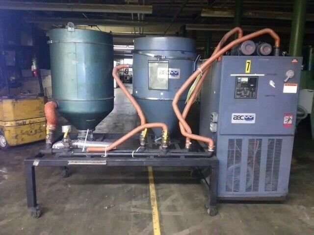 AEC  WD-150 Material Dryer, Desiccant; Hoppers are approx 400 lb each, ZAG #8205