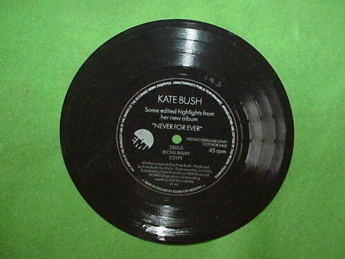 "1980 KATE BUSH ""NEVER FOR EVER Some edited Highlights"" Flexi Disc Single Side 45"
