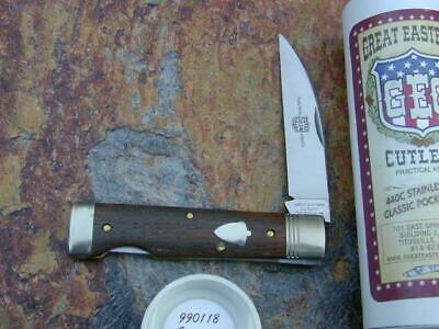 GREAT EASTERN GEC AMERICAN CHESTNUT WALLSTREET LKBCK KNIFE RARE 1/284 MIT 990118