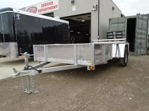 6X12 ALUMINUM UTILITY - SOLID SIDES, BI-FOLD GATE - SPECIAL! London Ontario image 2