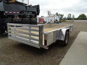 6X12 ALUMINUM UTILITY - SOLID SIDES, BI-FOLD GATE - SPECIAL! London Ontario image 5