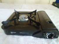 PORTABLE SINGLE CAMPING GAS STOVE/COOKER with Case