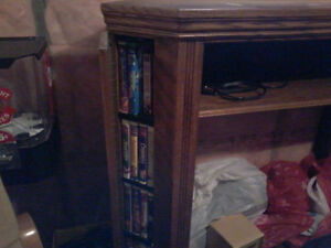Buhler Solid Oak Upper Entertainment Unit London Ontario image 1