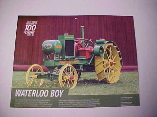 "1918,1919,1920,1921,1922,1923 John Deere ""Waterloo Boy"" photo from NOS calendar"