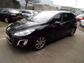PEUGEOT 308 1.6 E-HDI SW ACTIVE NAVIGATION VERSION 5d 115 BHP (black) 2013