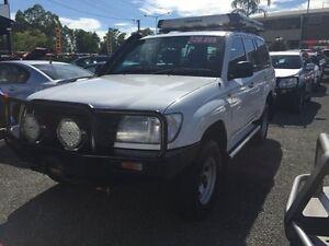 2003 Toyota Landcruiser 100 White 5 Speed Manual Wagon Hidden Valley Darwin City Preview
