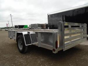 6X12 ALUMINUM UTILITY - SOLID SIDES, BI-FOLD GATE - SPECIAL! London Ontario image 7