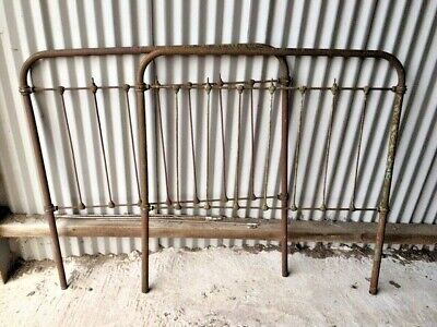 VICTORIAN CAST IRON BED ENDS FOR PARTS OR RESTORATION