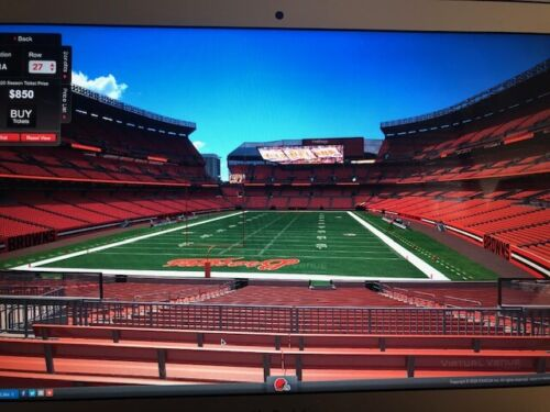 3 Cleveland Browns SEASON TICKETS SECTION 121A Row 28, Dog Pound- At Cost