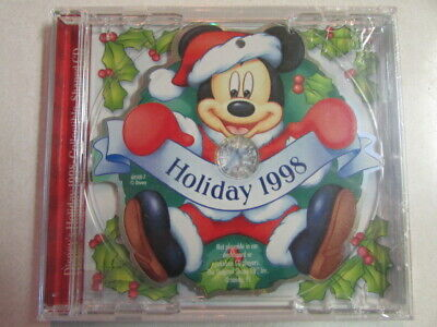 WALT DISNEY HOLIDAY 1998 COLLECTIBLE SHAPED CD 3 CHRISTMAS SONGS CD NEW SEALED ()