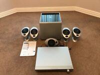 KEF KHT 2005.2 Surround Speakers, Subwoofer, Panasonic Control Receiver