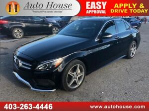 2015 MERCEDES BENZ C400 4MATIC AMG PACKAGE NAVIGATION BACKUP CAM