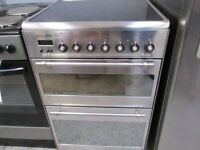 *ALBA EXCELLENCE STAINLESS STEEL 60CM ELECTRIC GLASS HALOGEN TOP COOKER+GOOD WORKING+FREE DELIVERY*
