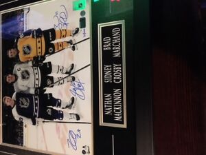 Signed Crosby, MacKinnon and Marchand print