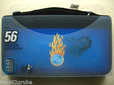 CD / DVD Tasche - Wallet - Farbe:Schwarz/Blau - Tasche für 56 CDs oder DVDs -NEU