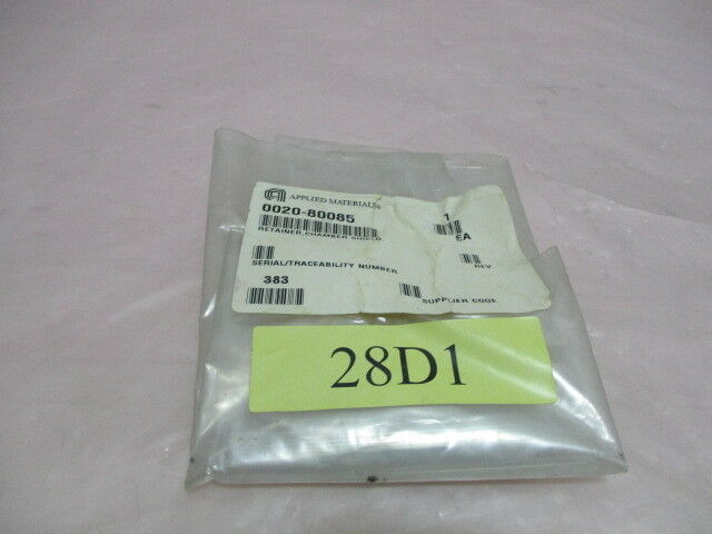 AMAT 0020-80085 Rev.A, 2-00DAT708-413, Retainer, Chamber Shield. 419364