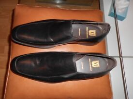 Bruno Magli Mens Black Leather Slip-ons Shoes (Brand New)
