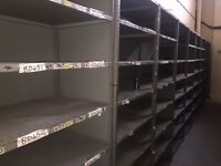 50 bays of shelving FREE