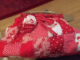 New red patchwork Barlow Handbag