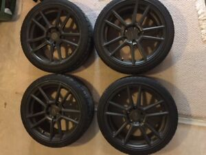 """Winter Tires and Alloy 18"""" Rims"""