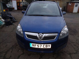 Vauxhall Zafira 7 seater MOT till 22/11/2017 Good tyres but quite a few bumps and scratches.
