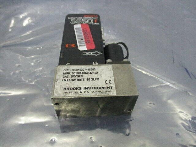 Brooks 5850, Mass Flow Controller, 5850IA1BM342BEA, Oxygen 30 SLPM, 421660