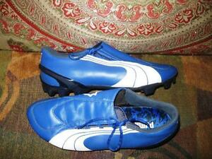 Puma Football Shoes Power Cat Blue Size 7.5