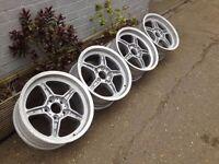 """ORIGINAL BMW E34 M5 17"""" 5x120, 8J Deep dish alloy wheels, BMW, not borbet, azev"""