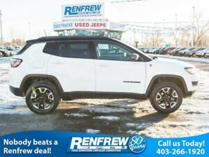 2018 Jeep Compass Trailhawk 4x4, Navigation, Remote Start, Heate