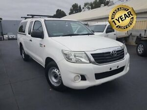 2013 Toyota Hilux GGN15R MY12 SR White 5 Speed Automatic X Cab Pickup Canley Vale Fairfield Area Preview