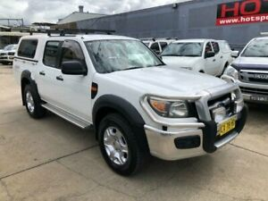 2010 Ford Ranger PK XL Crew Cab White 5 Speed Automatic Utility Granville Parramatta Area Preview