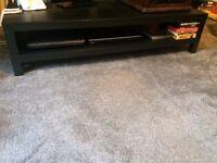 Media Bench - dark brown IKEA LACK (assembled)