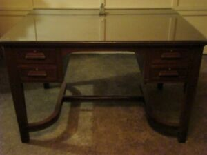 Antique Partners Desk solid mahogany