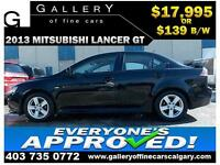 2013 Mitsubishi Lancer GT $139 bi-weekly APPLY NOW DRIVE NOW