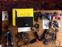 PlayStation2 PS2 Console, 4 controllers, mics, camera, 17 games - all you need for hours of playing