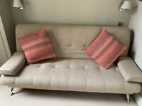 Sofa bed in heavy cotton - nearly new