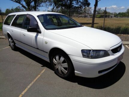 2003 Ford Falcon BA XT White 4 Speed Sports Automatic Wagon Clontarf Redcliffe Area Preview