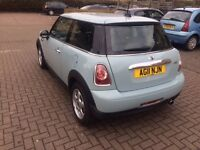 2011 MINI ONE 1.6 (Pepper pack) 3dr HPI Clear,Low Mileage,usb,AUX,facelift)