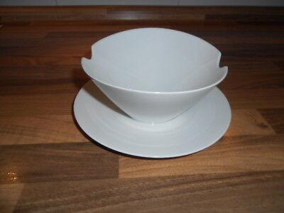 Teller Liner (Rosenthal Studio Line Form 2000 - Sauciere auf Teller - weiß - Dm 17 cm)