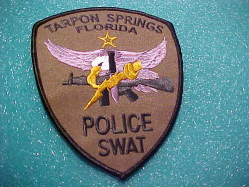 TARPON SPRINGS FLORIDA S.W..A.T.  POLICE PATCH  SHOULDER SIZE UNUSED