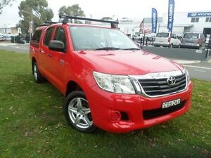 2012 Toyota Hilux GGN15R MY12 SR Red 5 Speed Automatic Dual Cab Pick-up Belconnen Belconnen Area Preview