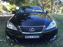 2008 Lexus IS250 xtype Black Manual Sedan Croydon Burwood Area Preview