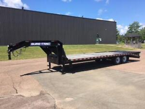 "NEW 2019 SURE-TRAC 102"" x 25' G/N DECK-OVER TRAILER"