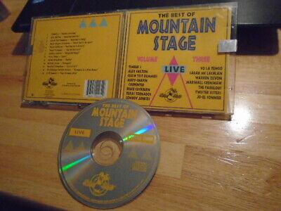 RARE OOP Best of Mountain Stage 3 CD LIVE Cowboy Junkies SARAH MCLACHLAN Zevon