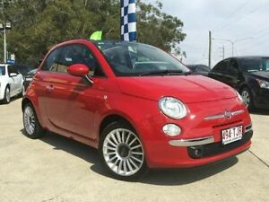 2013 Fiat 500C 150 Lounge Dualogic Racing Red Semi Auto Convertible Southport Gold Coast City Preview